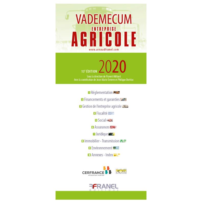 Vademecum De L Entreprise Agricole 2019 Arnaud Franel Editions